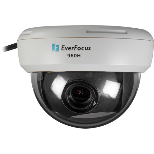 EverFocus ED710W Ultra 720+ Series True Day/Night Mini Dome Indoor Camera (White, NTSC)