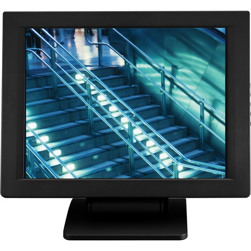 "Eversun Technologies LP-15F34U 15"" LCD POS Monitor with Fujitsu Touchscreen and Credit Card Reader (Black)"