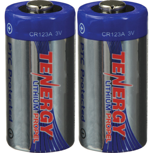 ExtremeBeam Tungsten Carbide 3.0V CR123 Lithium Non-Rechargeable Batteries (Two)