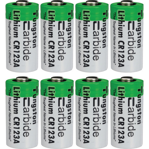ExtremeBeam CR123A 3.0V Long-Life Lithium Battery Pack (8 Pack)