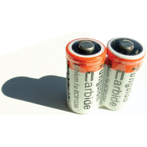 ExtremeBeam CR123 3.0V Rechargeable Li-ion Batteries (500 mAh, Two Pack)