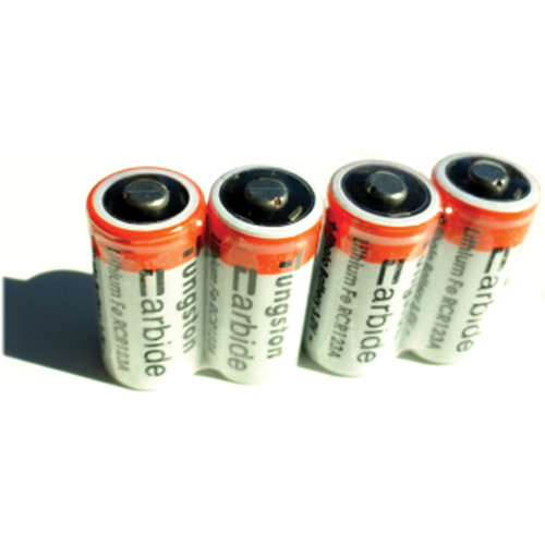 ExtremeBeam Tungsten Carbide 3.0V RCR123 LFP Rechargeable Batteries (Four)