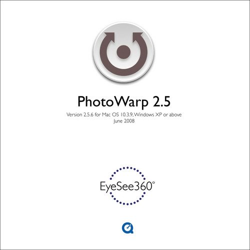 EyeSee360 PhotoWarp 2.5 Software for Panoramic Image Processing