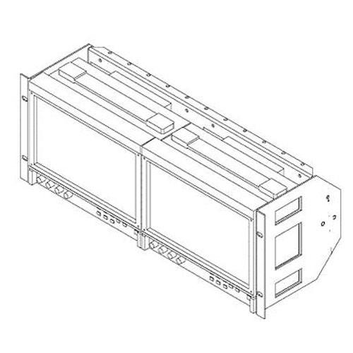 FEC RAK92LCD Dual/Single Rackmount for JVC DTV9L3DY