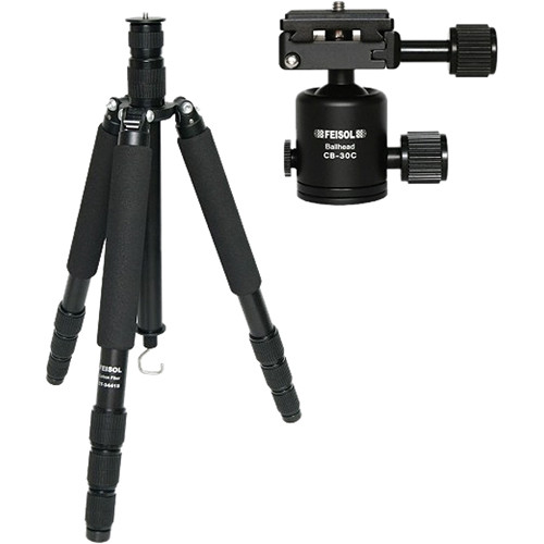 FEISOL CT-3441SB Travel 4-Section Rapid CF Tripod With CB-30C Ball Head