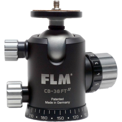 FLM Centerball 38 FT - Ballhead with 38mm Ball Diameter, with Friction Control and Tilt Function (PTF) - Supports 55 lb (20 kg)