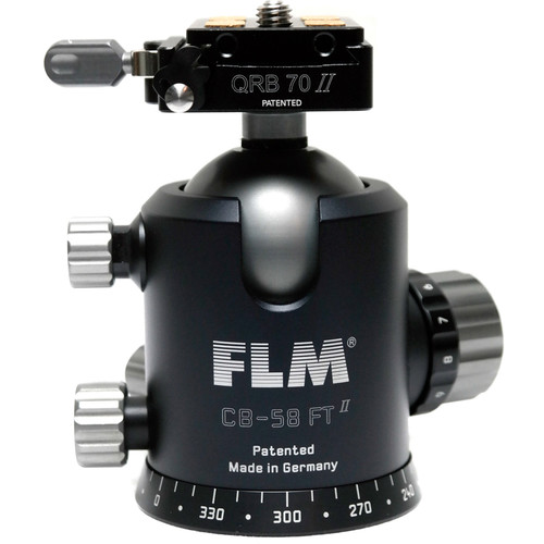 FLM CB-58 FTR Ball Head with QRP-70 Quick Release System