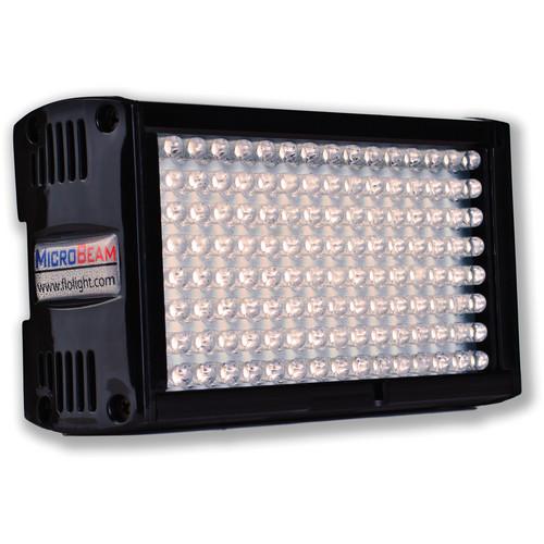 Flolight Microbeam 128 LED On Camera Video Light (3200K, Flood, Panasonic Battery Plate)