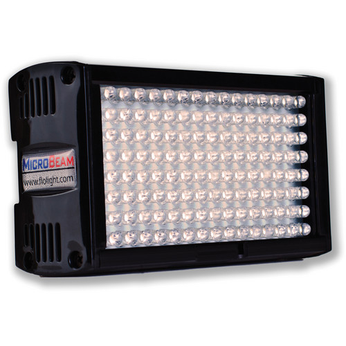 Flolight Microbeam 128 LED On Camera Video Light (5600K, Spot, Sony Battery Plate)