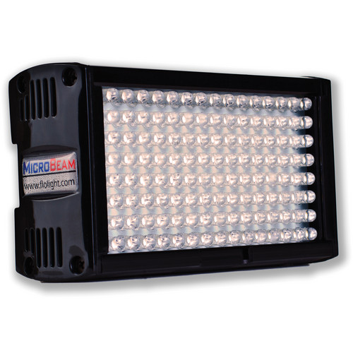 Flolight Microbeam 128 LED On Camera Video Light (3200K, Flood, Sony Battery Plate)