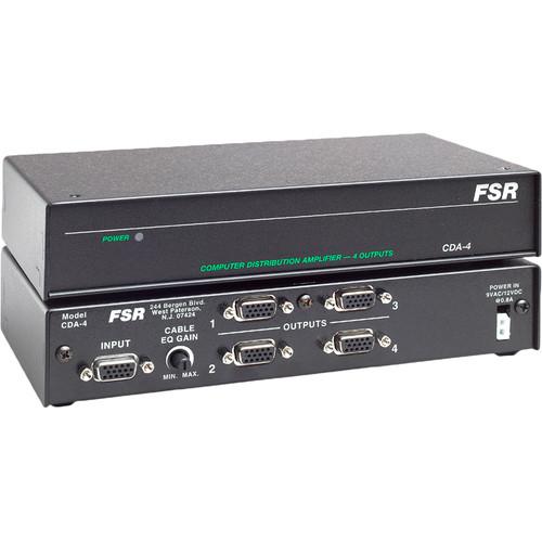 FSR CDA-4 1x4 Computer Video Distribution Amplifier - XGA, HD-15