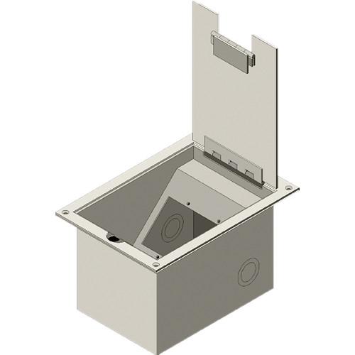 FSR FL-1300 Floor Box w/ Hinged Door (Oak)