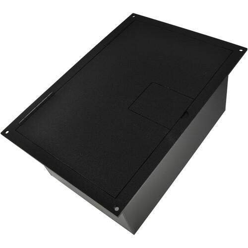 FSR FL-1500-2DBLK Floor Box with Divided Bracket (Black)