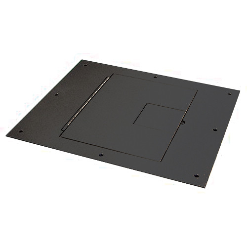 FSR FL-500P-BLK-C Cover with Hinged Door [No Flange] (Black)
