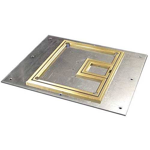 "FSR FL-500P-BLP-C Cover With Beveled ¼"" Brass Carpet Flange (Lift-Off Door)"