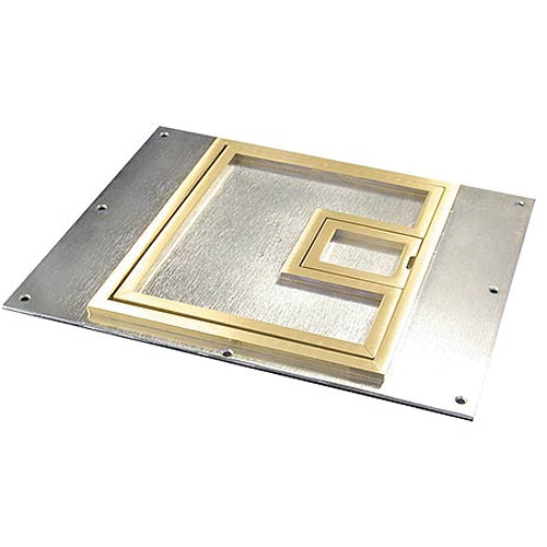 "FSR FL-500P-BSQ-C Cover With Square ¼"" Brass Carpet Flange (Lift-Off Door)"