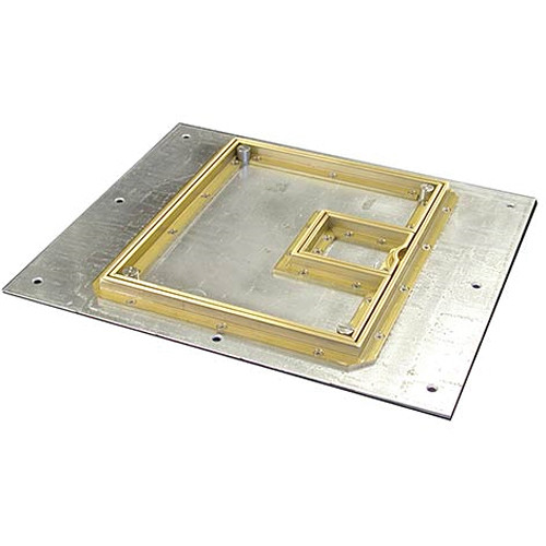 "FSR FL-500P-B-C Cover With Beveled ½"" Brass Carpet Flange (Lift-Off Door)"
