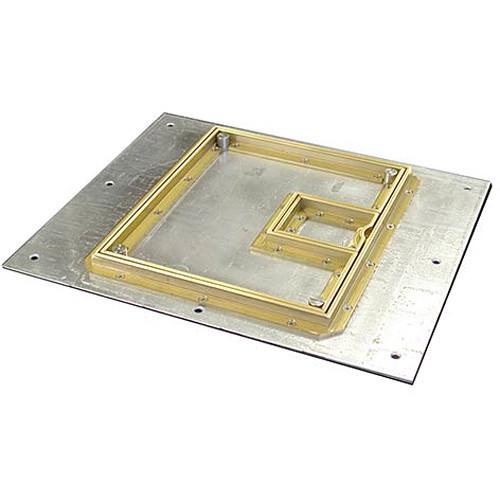 "FSR FL-500P-B-C Cover With Beveled ½"" Brass Carpet Flange (Lift-Off Door)"