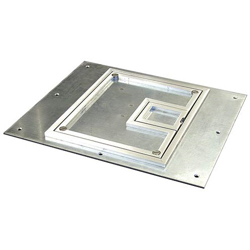 "FSR FL-500P-SSQ-C Cover With Square ¼"" Aluminum Carpet Flange (Lift-Off Door)"
