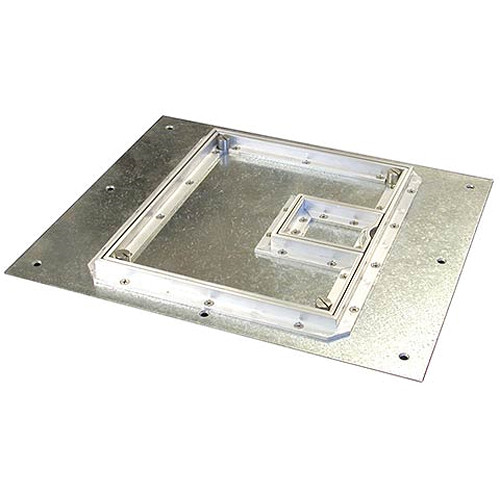 "FSR FL-500P-S-C Cover With Beveled ½"" Aluminum Carpet Flange (Lift-Off Door)"