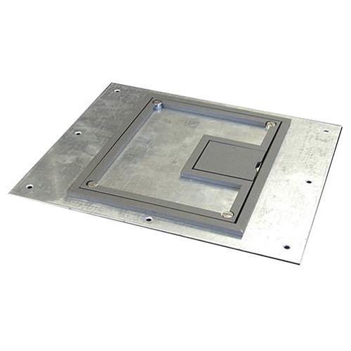 """FSR FL-600P-PLP-GRY-C 1/4"""" Painted Carpet Flange - Gray (Lift off door)"""