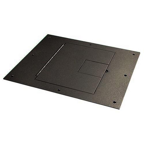 FSR FL-710-BLK-C Cover (No Flange) with Hinged Door in Black Sandtex