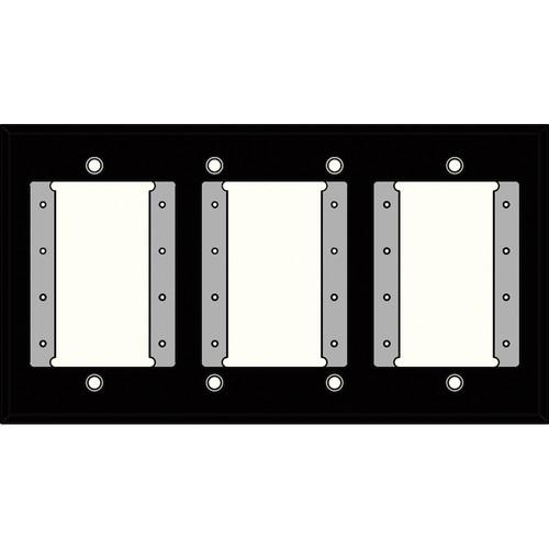 FSR IPS-PWP1Q-BLK 4 Gang Wall Plate (Black)