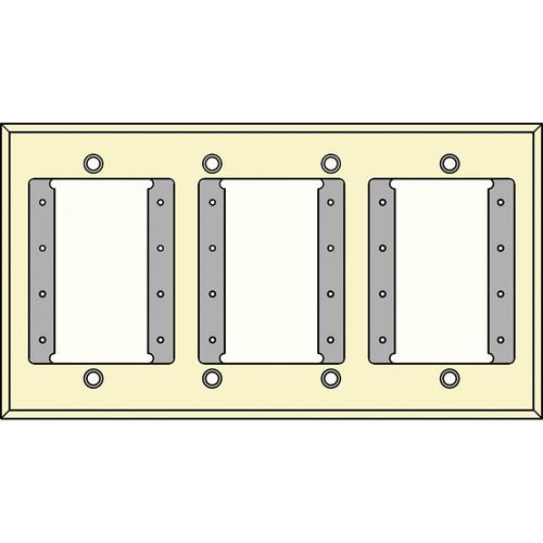FSR IPS-PWP1Q-IVO 4 Gang Wall Plate (Ivory)