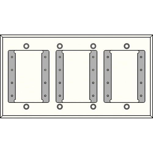 FSR IPS-PWP1Q-WHT 4 Gang Wall Plate (White)