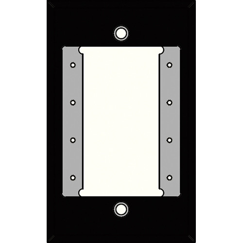 FSR IPS-PWP1S-BLK 1 Gang Wall Plate (Black)