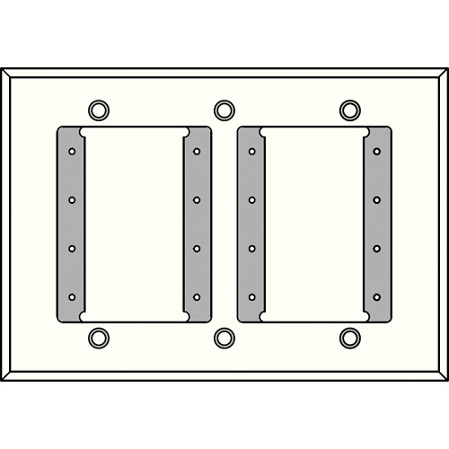 FSR IPS-PWP1T-WHT 3 Gang Wall Plate (White)