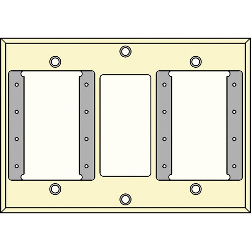 FSR IPS-PWP2D-IVO 2 Gang Wall Plate (Ivory)
