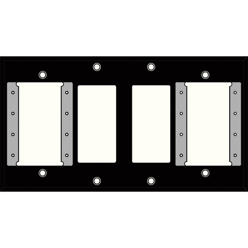 FSR IPS-PWP2Q-BLK 4 Gang Wall Plate (Black)