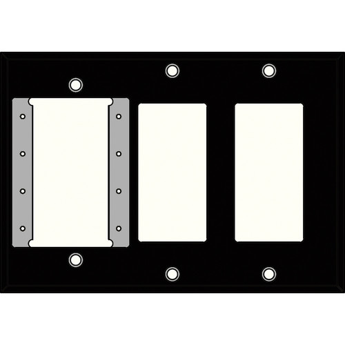 FSR IPS-PWP3T-BLK 3 Gang Wall Plate (Black)