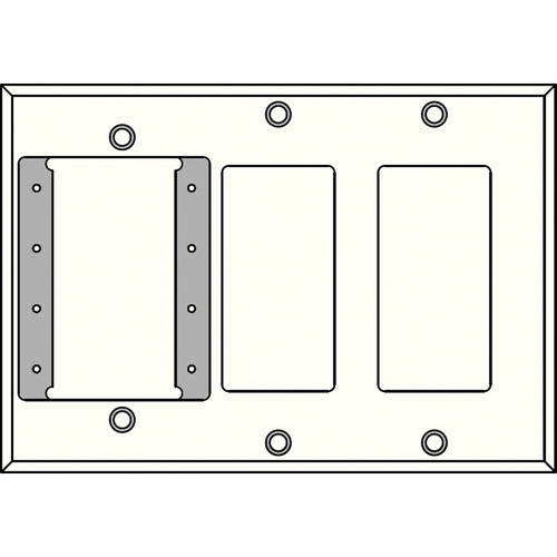FSR IPS-PWP3T-WHT 3 Gang Wall Plate (White)