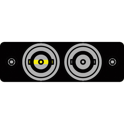 FSR IPS-V120S-BLK BNC (Y/W) to BNC Bulkhead Insert Plate (Black)