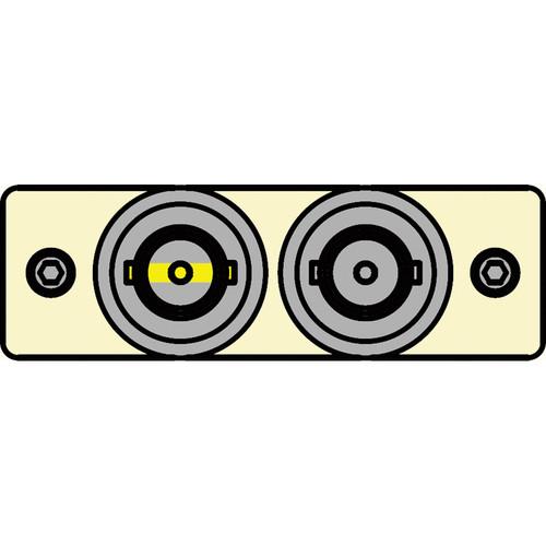 FSR IPS-V120S-IVO BNC (Y/W) to BNC Bulkhead Insert Plate (Ivory)