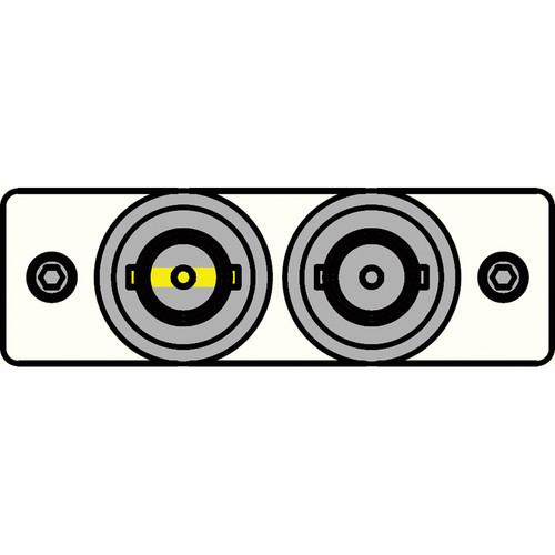 FSR IPS-V120S-WHT BNC (Y/W) to BNC Bulkhead Insert Plate (White)