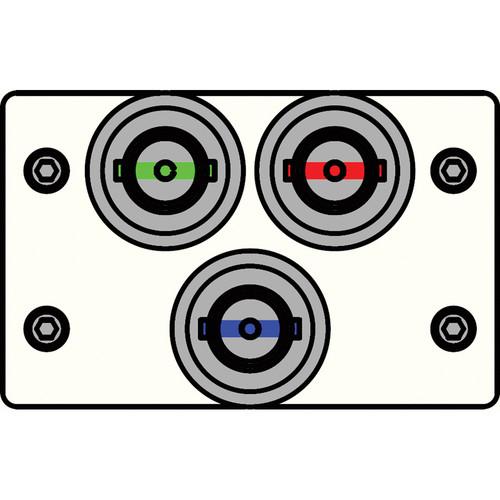 FSR IPS-V130D-WHT BNC (R/G/B) to BNC Bulkhead Insert Plate (White)
