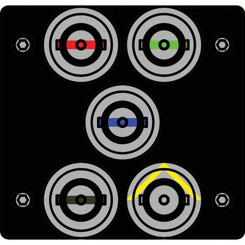 FSR IPS-V150T-BLK BNC (RED/GRN/BLU/BLK/YEL) to BNC Bulkhead Insert Plate (Black)