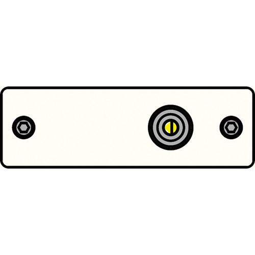 FSR IPS-V210S-WHT RCA (YEL) to Solder Cup Insert Plate (White)
