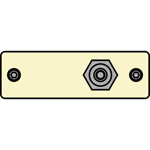 FSR IPS-V211S-IVO RCA (YEL) to RCA Bulkhead Insert Plate (Ivory)