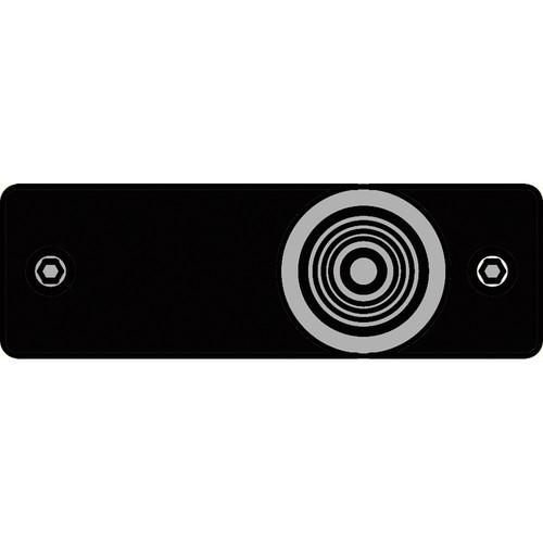 FSR IPS-V213S-BLK RCA (YEL) to BNC Bulkhead Insert Plate (Black)