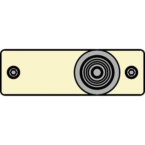FSR IPS-V213S-IVO RCA (YEL) to BNC Bulkhead Insert Plate (Ivory)