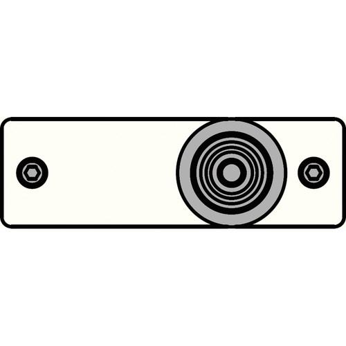 FSR IPS-V213S-WHT RCA (YEL) to BNC Bulkhead Insert Plate (White)