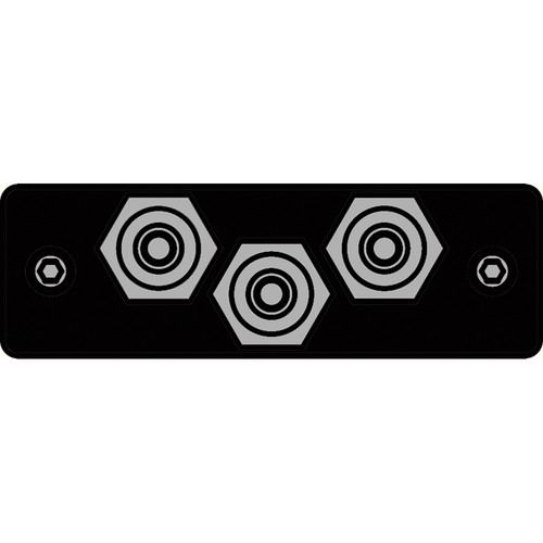 FSR IPS-V230S-BLK RCA (GRN/BLU/RED) to RCA Bulkhead Insert Plate (Black)