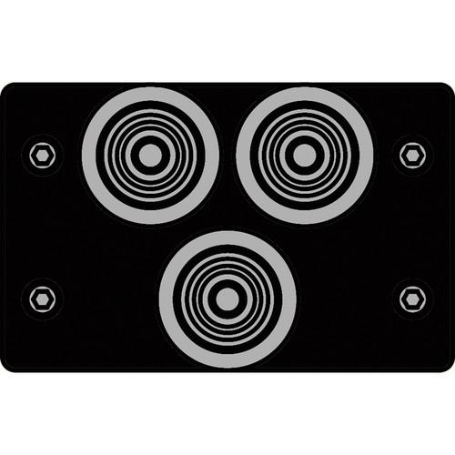 FSR IPS-V231D-BLK RCA (GRN/BLU/RED) to BNC Bulkhead Insert Plate (Black)