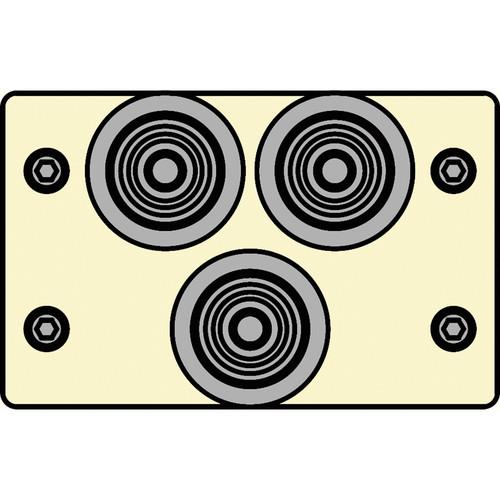 FSR IPS-V231D-IVO RCA (GRN/BLU/RED) to BNC Bulkhead Insert Plate (Ivory)