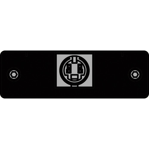 FSR IPS-V310S-BLK S-Video to 2 BNC Tails Insert Plate (Black)