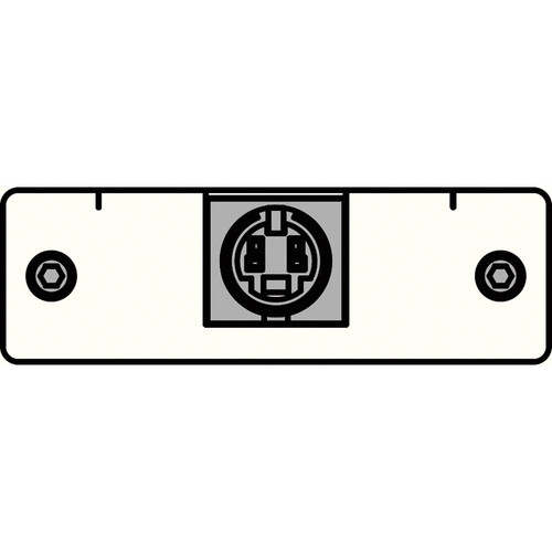 FSR IPS-V310S-WHT S-Video to 2 BNC Tails Insert Plate (White)